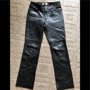 Nice black leather pants by Gap size 4